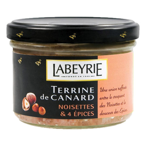 Labeyrie Duck Terrine Hazelnut & 4 Spices 170g - Terrine de canard noisettes et 4 epices