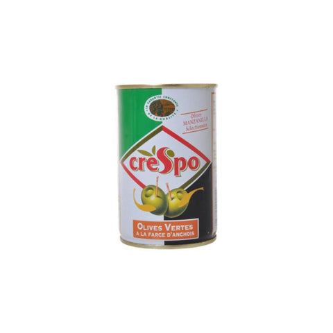 Crepso Green Olives Stuffed with Anchovy Paste 120g Olives Vertes Anchois