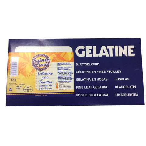 Gelatine Leaves Gold 1kg - Sainte Lucie