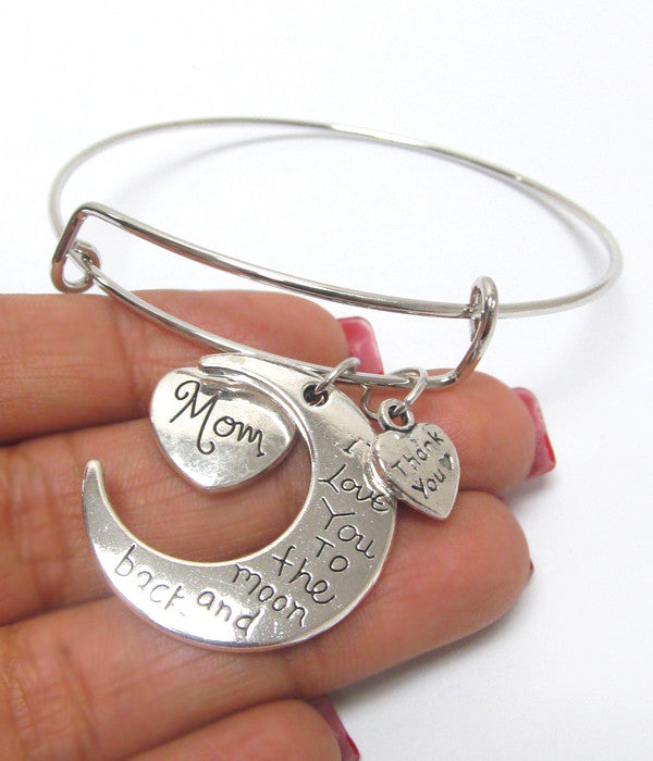 Charm Bracelet- I love you to the Moon