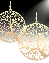 Beautiful Tree of Life Earrings (Silver & Gold)