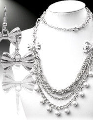 Bow-Tie Necklace Set