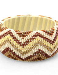 Beaded Pattern Bangle (Various Colors)