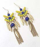 Carnival Ready Art Deco Tassel Drop Earrings