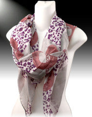 Chained Down Scarf-Purple