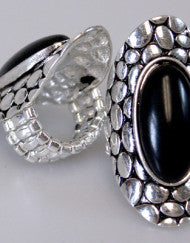 Classic Black Fashion Ring