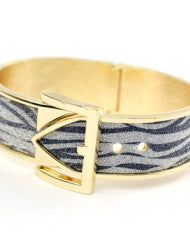 Classy Fashion Belt Bangle Zebra Print