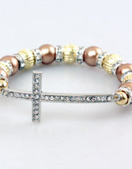 Fashion with a Purpose Pandora Style Cross Bracelet (Various Colors)