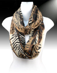 Exotic Animal Print Infinity Scarf