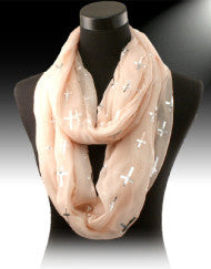 Fashion with a Purpose Cross Infinity Scarf (Various Colors)