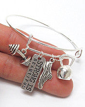 Fitness Charm Bracelet-Strong is Beautiful