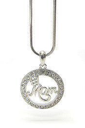 #1 Mom Pendant Necklace