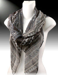 Pattern Interuption Black Scarf