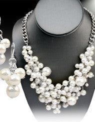 Perfect Pearl Necklace Set (Silver & Gold)