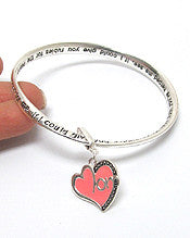Charm Bracelet -Mothers' Prayer Twisted Bangle Bracelet