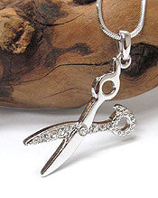 Scissors Pendant Necklace-Fit for a Stylist