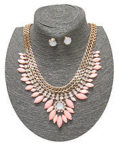 Spring Pretty Petals Necklace Set