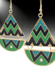 Chevron Abstract Earrings (Various Colors)