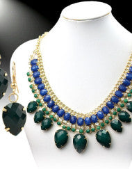 The Crown Jewels Necklace Set (Burgundy or Green)