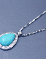 Timeless Turquoise Pendant Necklace