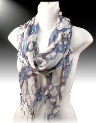 Whips & Chains Scarf- Blue