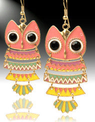 Who's Looking Owl Earrings