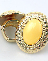 Canary Yellow Couture Fashion Ring