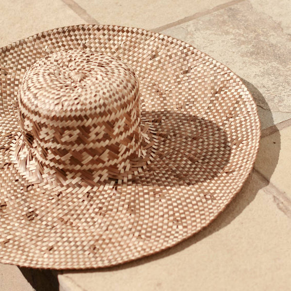 Brunna Co Borneo Tata Woven Straw Hat - Beige