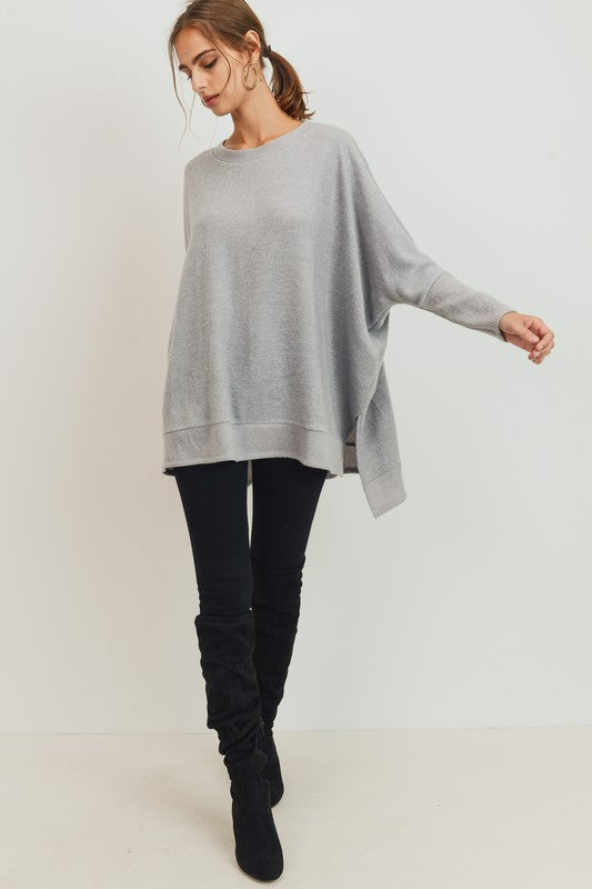 Cherish Hi-low Lightweight Fleece Tunic Top