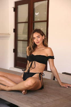 Kiki Off the Shoulder Ruched Ruffle Bikini