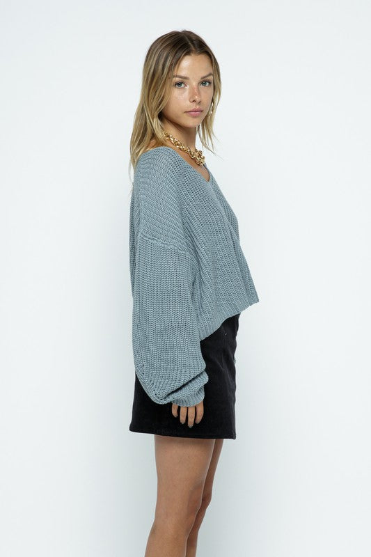 Samara Double V Cropped Sweater