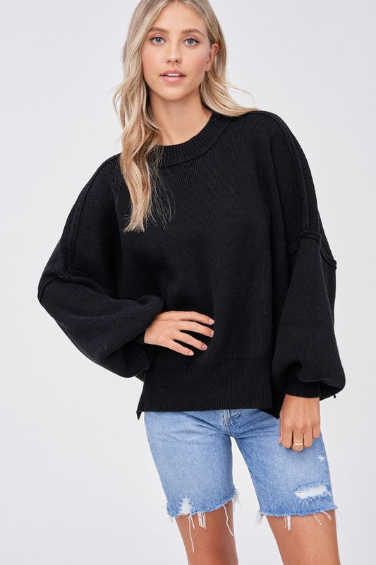 Vivienne Oversized Slouchy Puff Sleeve Sweater