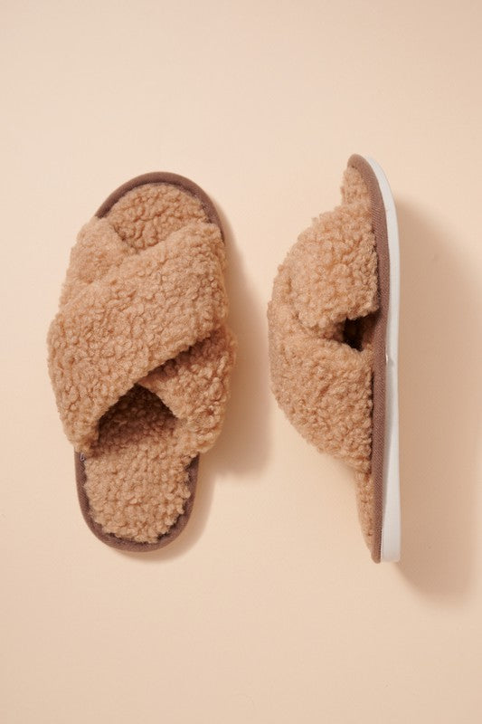 Sherpa Faux Fur Slippers