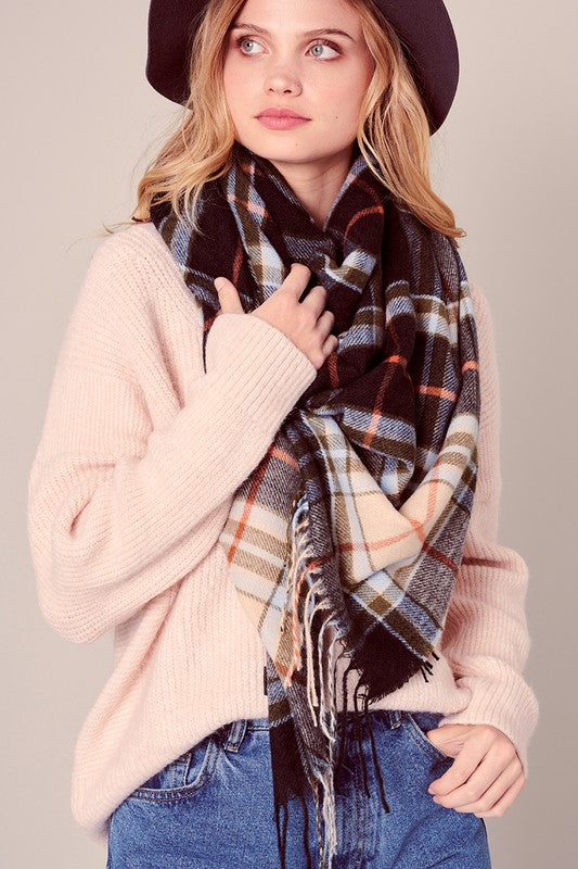 Whitney Plaid Blanket Scarf