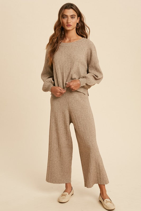 Mariah Rib Knit Sweater Set