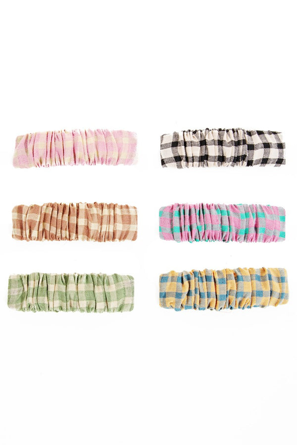 Chidi Checkered Hair Clip Set