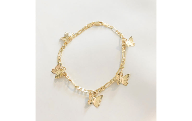 Dawn Gold Chain Butterfly Bracelet
