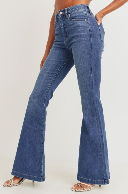 Reagan High Rise Bell Bottoms Jeans - Blue