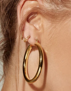 THE AMALFI TUBE HOOPS - GOLD