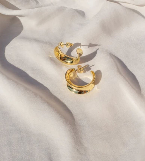 GOLD MARGOT HOOPS - LUV AJ