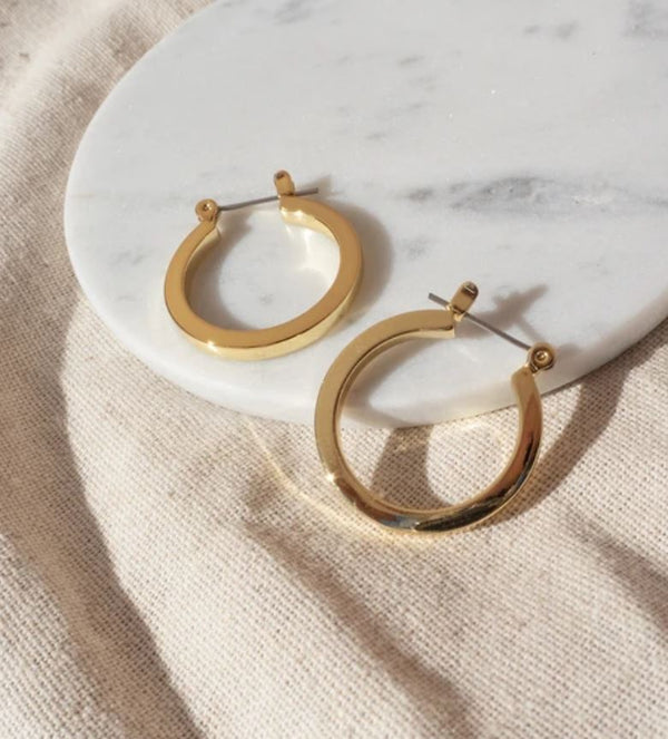 MINI CELINE GOLD HOOPS - LUV AJ