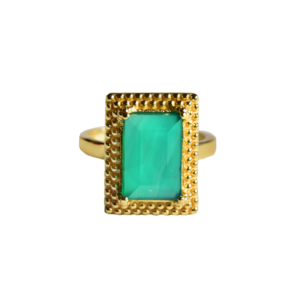 Monica Ring - Green Onyx | Mountain and Moon