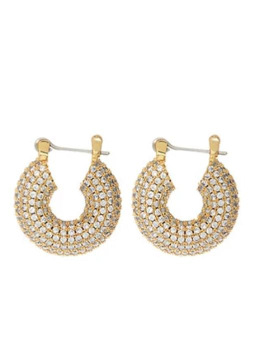 GOLD PAVE MINI DONUT HOOPS - LUV AJ