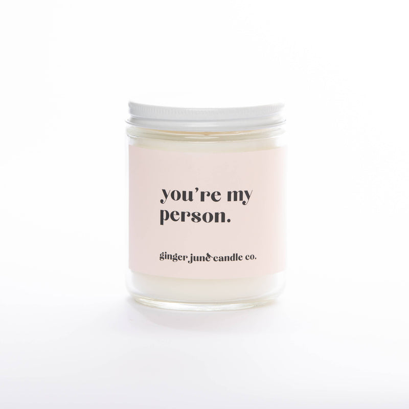 Ginger June Candle Co. - YOU'RE MY PERSON • STANDARD GARDENIA HONEYSUCKLE CANDLE