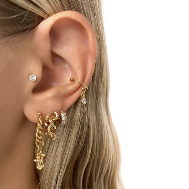 Earpin Big Chain Earrings | By Nouck
