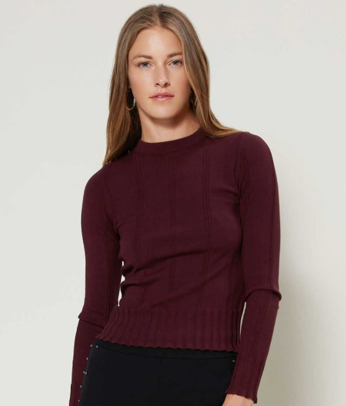 Amira Fitted Rib Knit Sweater