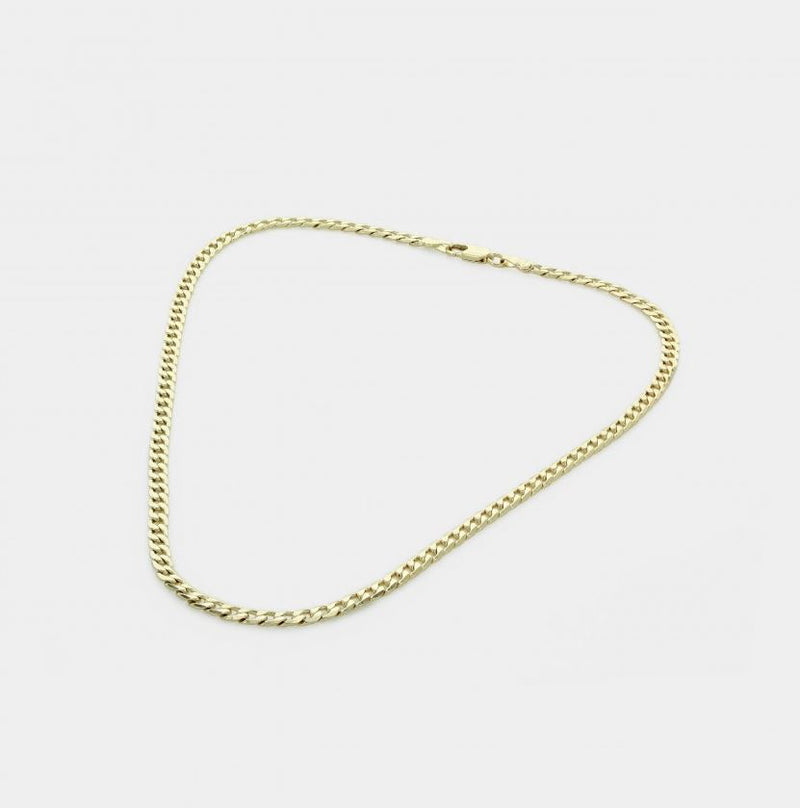 Sawyer Gold Cuban Curb Chain Necklace
