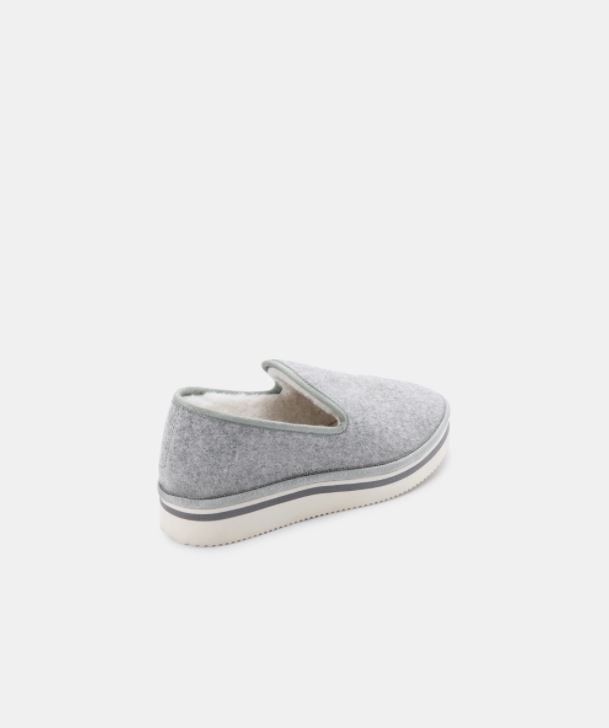 DOLCE VITA | HERVE SLIPPERS IN GREY FELT