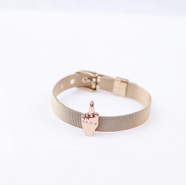 The FU Middle Finger Bracelet-bracelet-amannequin-AMQN Boutique