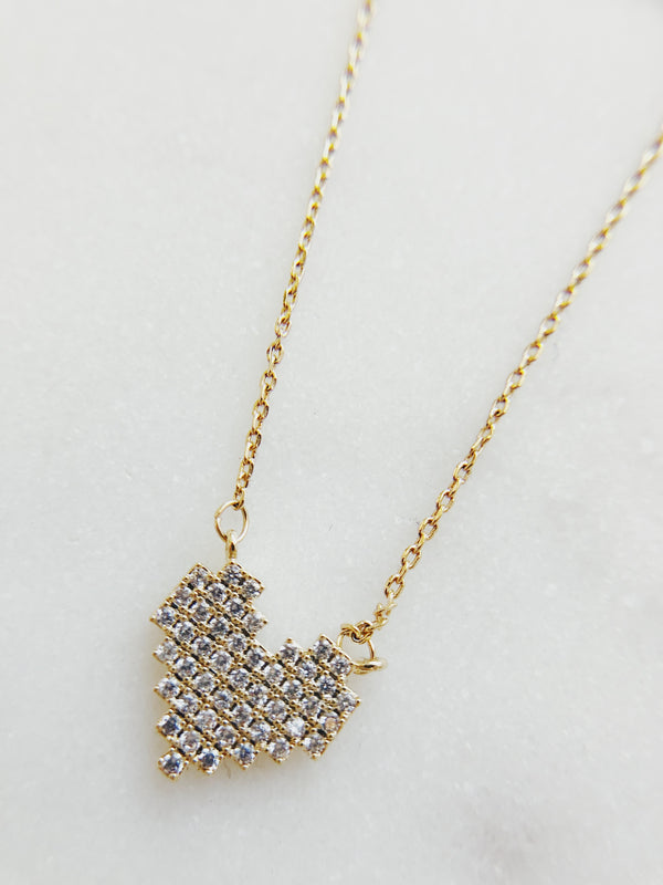 Devi Heart Necklace - Gold